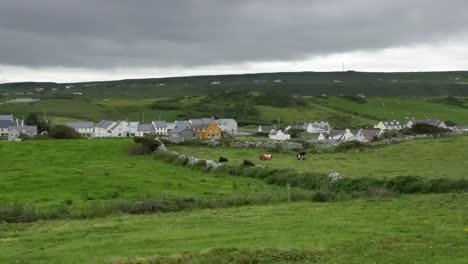 Ireland-County-Clare-Doolin-Surrounded-By-Green-Fields-Pan