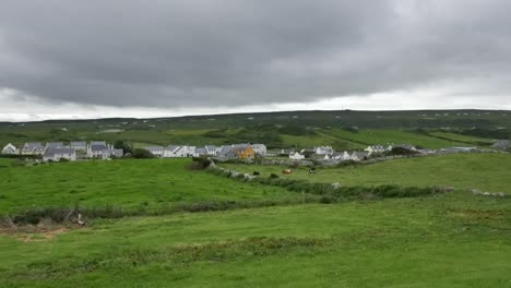 Ireland-County-Clare-Doolin-Surrounded-By-Green-Fields
