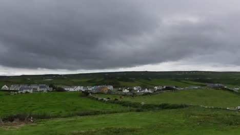 Ireland-County-Clare-Doolin-Under-Dark-Cloudy-Sky-Pan