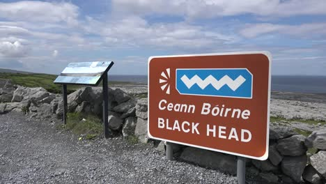 Ireland-County-Clare-Wild-Atlantic-Way-Sign-At-Black-Head-