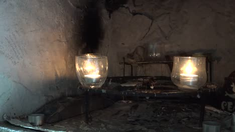 Ireland-County-Clare-Candles-At-St-Brigids-Holy-Well-