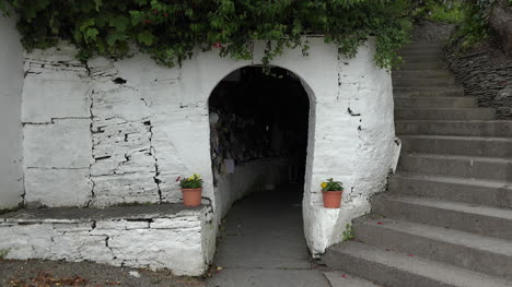 Ireland-County-Clare-Entry-Door-To-St-Brigids-Holy-Well-