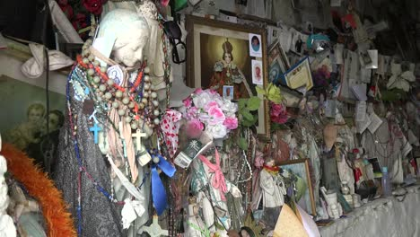 Ireland-County-Clare-Statues-And-Other-Offerings-At-St-Brigids-Holy-Well
