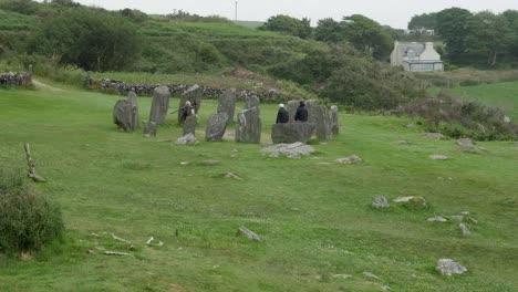Ireland-County-Cork-Drombeg-Stone-Circle-With-Tourists