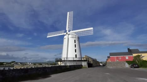 Ireland-Dingle-Blenner-Windmill-Against-Blue-Sky-Zoom-In