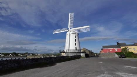 Ireland-Dingle-Blenner-Windmill-Against-Blue-Sky