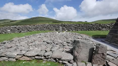 Ireland-Dingle-Ogham-Stone-At-Gallarus-Oratory