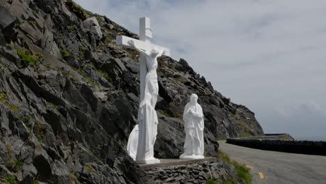 Estatuas-De-Crucifixión-De-Península-De-Dingle-Irlanda