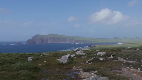 Ireland-Dingle-Peninsula-Landscape-With-Rocks-Zoom-And-Pan