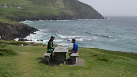 Ireland-Dingle-Peninsula-Picnic-On-Coast-Zoom-In