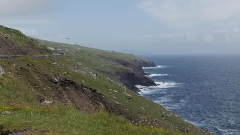 Ireland-Dingle-Peninsula-Stark-Hillside-Meets-Sea-Zoom-Out
