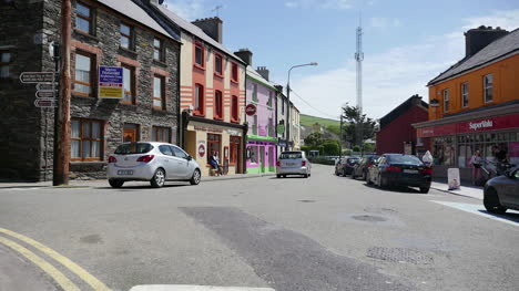 Ireland-Dingle-Street-Scene-With-Bicycle-And-Motorcycle