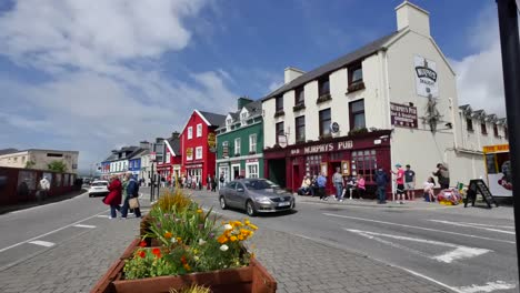 Ireland-Dingle-Town-With-Buildings-And-Cars