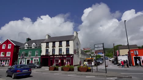 Ireland-Dingle-Town-With-Clouds-And-People-Crossing-Street-