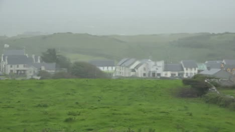 Ireland-Doolin-Village-Through-Rain-On-Window