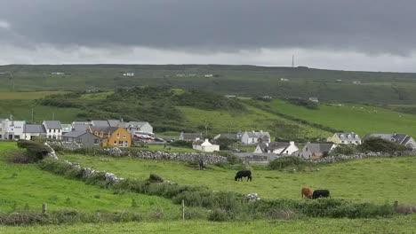 Ireland-Doolin-Village-Under-Dark-Clouds-Pan