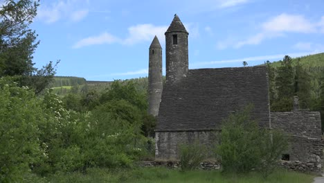 Ireland-Glendalough-St-Kevins-Church-And-Round-Tower