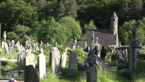 Ireland-Glendalough-St-Kevins-Church-Beyond-Cemetery