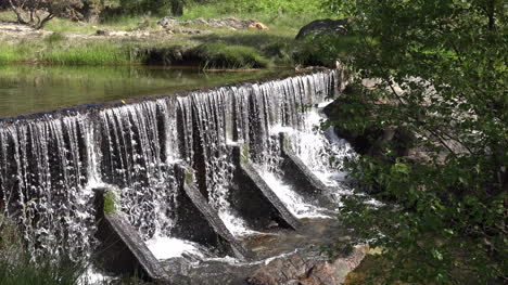 Ireland-Glendalough-Dam-With-Flowing-Water