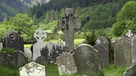 Ireland-Glendalough-Monastic-Site-With-Cemetery-And-High-Cross