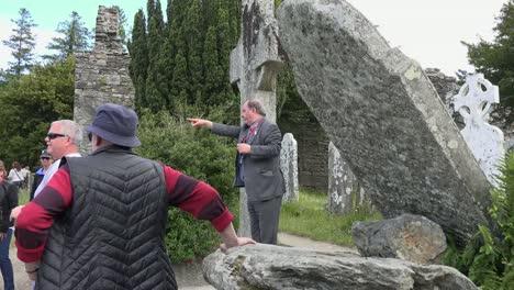Ireland-Glendalough-Visitors-At-St-Kevins-Bed