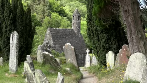 Ireland-Glendalough-With-Cemetery-And-St-Kevins-Church-Zoom-In