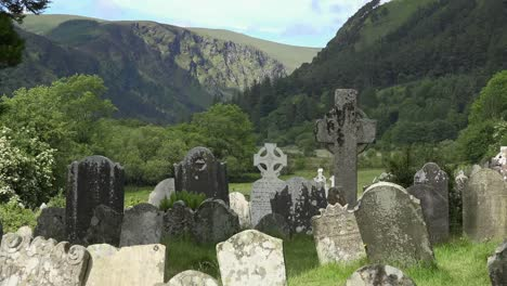 Ireland-Glendalough-With-Cemetery-And-High-Cross
