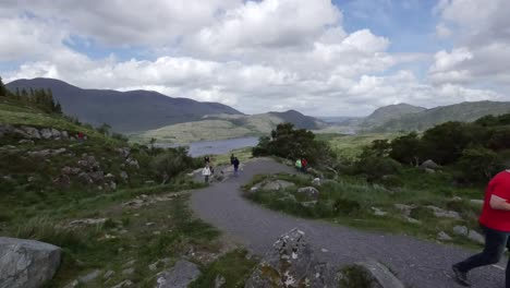 Ireland-Killarney-National-Park-Tourist-Taking-Picture-Of-Lough-Leane-