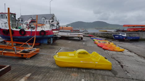 Ireland-Portmagee-Town-Waterfront-With-Boats