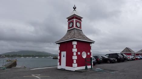 Ireland-Portmagee-Waterfront-Red-Clock-Tower