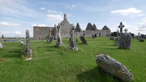 Ireland-Clonmacnoise-Celtic-Crosses-Mark-A-Cemetery-By-Cathedral-Ruins