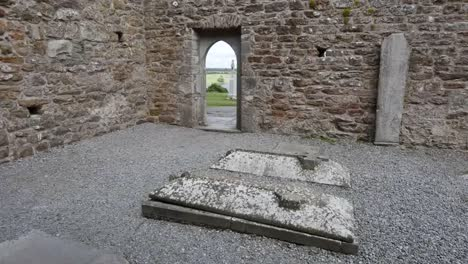 Ireland-Clonmacnoise-Graves-In-The-Floor-Of-A-Ruined-Church