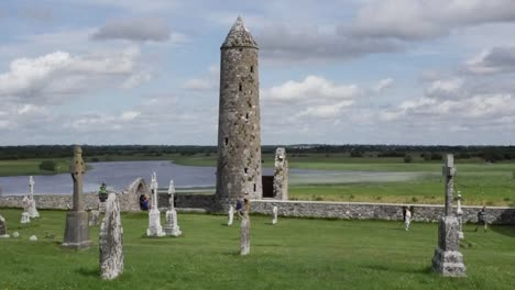 Ireland-Clonmacnoise-Mccarthys-Tower-By-The-River-Shannon-Pan