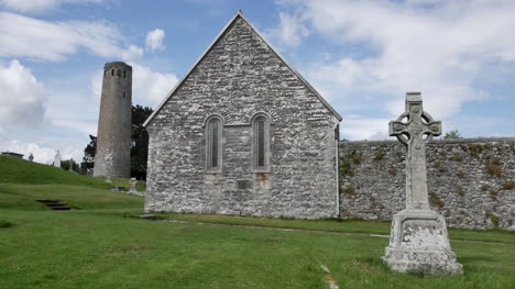 Ireland-Clonmacnoise-Clouds-Drift-Above-Temple-Connor