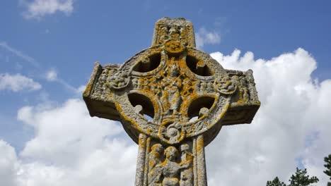 Ireland-Clonmacnoise-Clouds-Pass-The-Scripture-High-Cross
