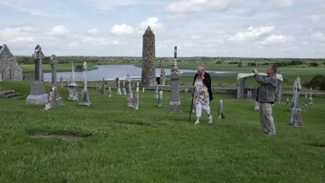 Ireland-Clonmacnoise-Man-Takes-Picture-As-Woman-Walks-By