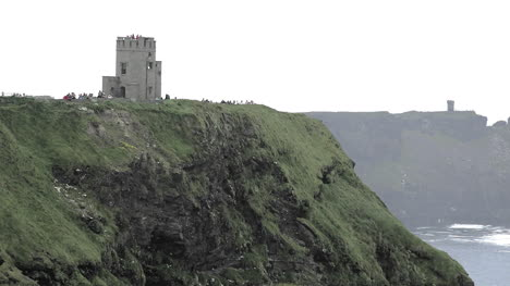 Ireland-County-Clare-Cliffs-Of-Moher-Tower-Standing-On-Cliffs