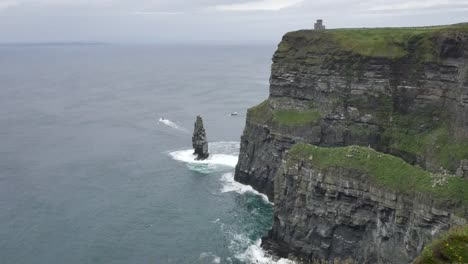 Ireland-County-Clare-Cliffs-Of-Moher-With-Sea-Stack-And-Tower