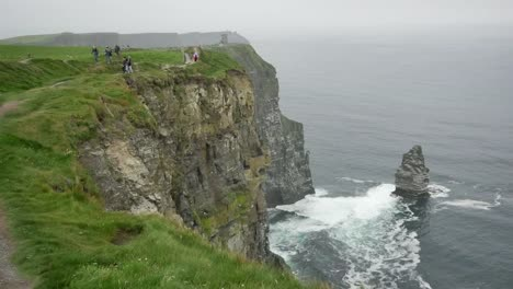 Ireland-County-Clare-People-Along-A-Path-At-Cliffs-Of-Moher