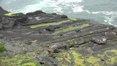 Ireland-County-Clare-Rock-Ledge-With-Waves-Below