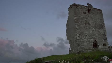 Ireland-County-Galway-Rinvyle-Castle-After-Sunset