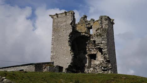 Ireland-County-Galway-Rinvyle-Castle-Ruins-Against-Cloud