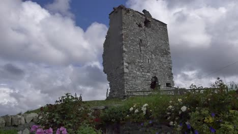 Ireland-County-Galway-Rinvyle-Castle-With-Clouds