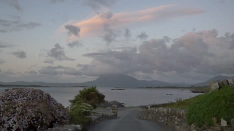 Ireland-County-Galway-Rinvyle-Road-And-Clouds-After-Sunset