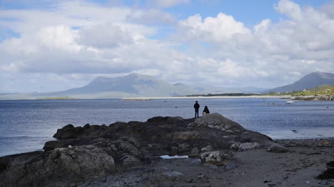 Ireland-County-Galway-Rinvyle-Standing-On-Rock