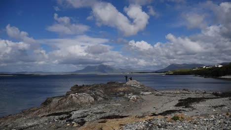 Ireland-County-Galway-Rinvyle-Sun-And-Shadow-With-People
