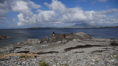 Ireland-County-Galway-Rinvyle-With-Men-On-Rocks