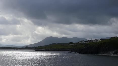 Ireland-County-Galway-Dark-Cloud-And-Sun-And-Water