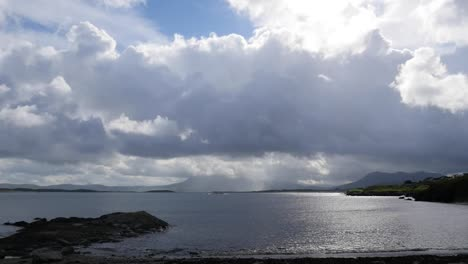 Ireland-County-Galway-Dark-Clouds-And-Sun
