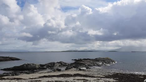 Ireland-County-Galway-High-Tide-And-Clouds